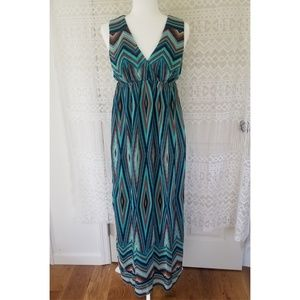 Cynthia Rowley Multicolored Sleeveless Maxi Dress